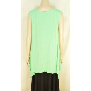 Chalet Tops - Chalet tank top tunic S aqua green NWOT crinkle as